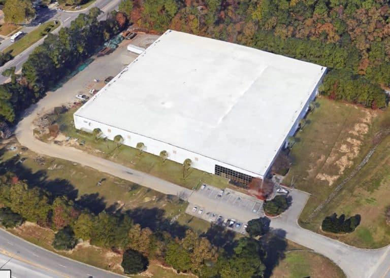Aerial view of Pegasus Goose Creek SC Facility